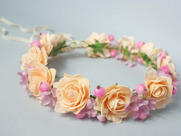 Alice Bands – Flower head wreath / Floral crown / Headpiece – a unique product by LolaWhite on DaWanda
