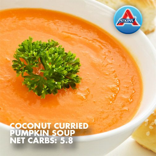 Coconut curried pumpkin soup yes please soups for Atkins cuisine all purpose baking mix
