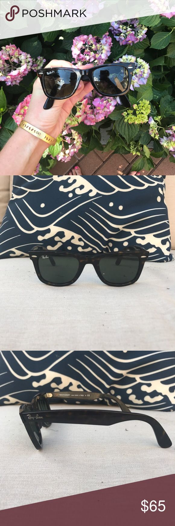 Ray-Ban Wayfarer Tortoise Classic tortoise Ray-Ban Wayfarers. Perfect for any season, completes every outfit. Gently worn in perfect condition.Unisex. Ray-Ban Accessories Sunglasses