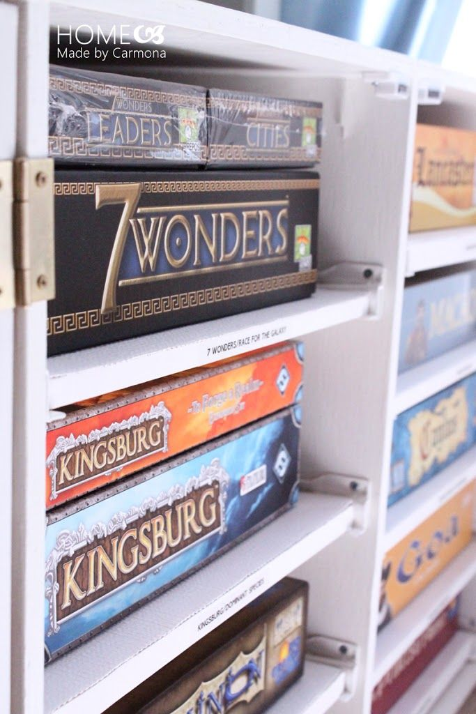 DIY Board Game Storage Unit - Home Made By Carmona