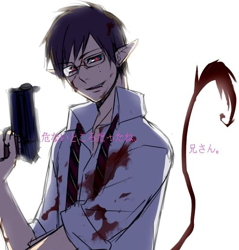 "Yukio - when he's demon powers came online all i could think was ""wait he has a tail now right? Right???"" and that's all....lol sure i'm not the only one."