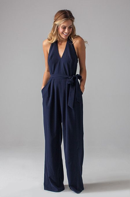 "This ""Maura Jumpsuit"" by Eva for Loverly is perfect for bridesmaids or a guest at your nautical wedding! Via Loverly (http://shop.lover.ly/collections/all-dresses/products/maura-jumpsuit)"