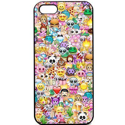 iPhone 5 C Coussin Motif Stickerbomb Étui pour téléphone portable Motif smiley Funky icônes                                                                                                                                                                                 Plus