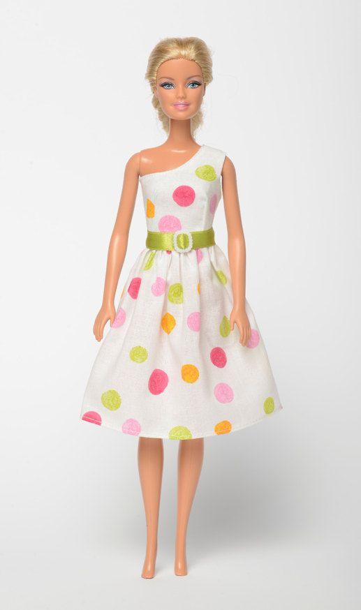 "Handmade Barbie doll clothes, Barbie dresses, Barbie outfit - ""Tutti Frutti"" Barbie dress  (255)"