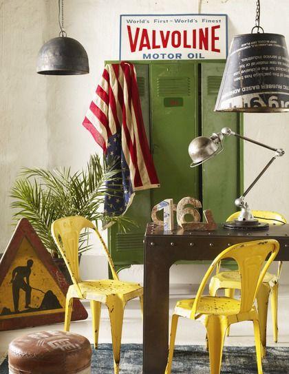 Industrieel geel en groen