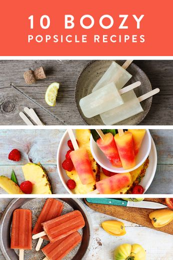 10 Boozy Popsicle Recipes via @PureWow