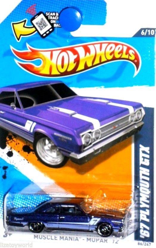 1967 plymouth gtx 2012 hot wheels muscle mania mopar 610 violet - Hot Wheels Cars 2012