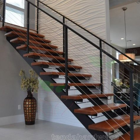 Best Double Stringer U Shape Tinted Glass Staircase In Black 400 x 300