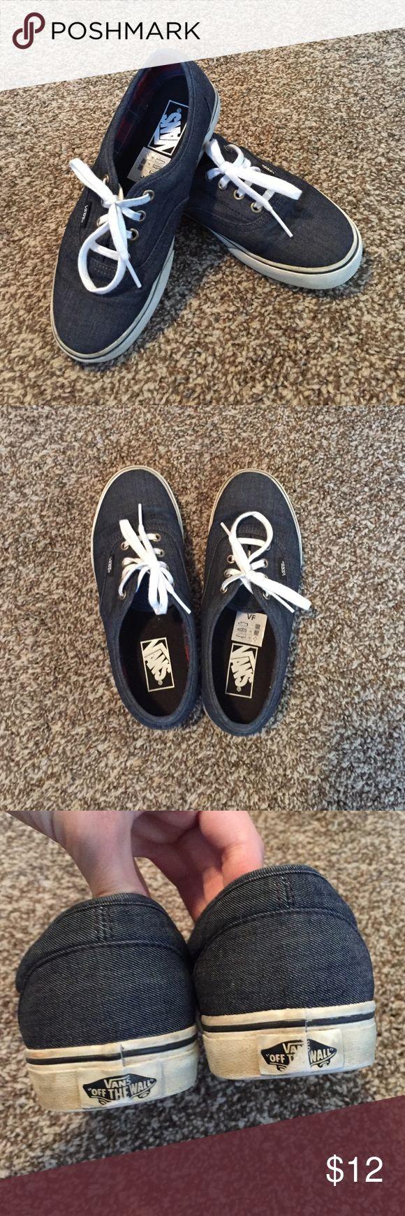 Navy Vans! Navy Vans in good condition! Great bundle purchase! Vans Shoes Sneakers