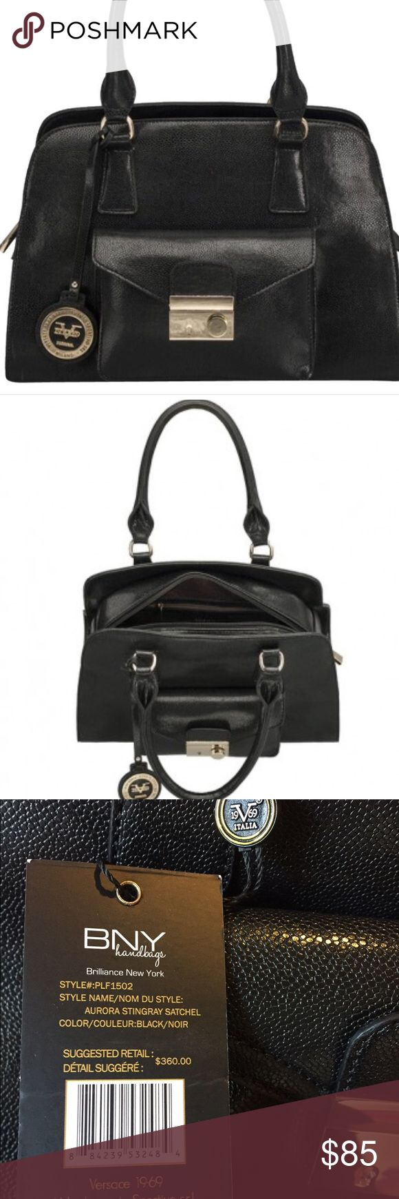 "Versace 19.69 abbigliamento sportivo black satchel Brand new with original retail tags of $360!  About 16""X11.5""x6.5"". This won't last long!!  Look at bundling to save even more money!! Versace Bags Satchels"