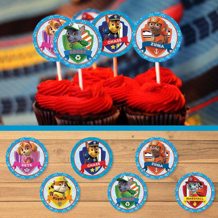 The size of each Paw Patrol Cupcake Topper  is 2 inches in diameter. The file size is a standard 8.5 x 11 with 12 cupcake ...