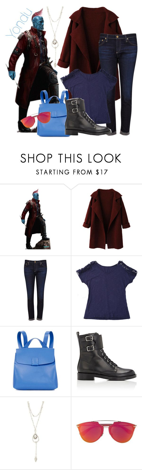 """""""Yondu"""" by claudialogan ❤ liked on Polyvore featuring AG Adriano Goldschmied, Nico Giani, Gianvito Rossi, Vanessa Mooney and Christian Dior"""