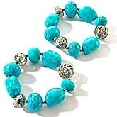"Love turquoise bracelets! R.J. Graziano ""Sunny Days"" 2-piece Bracelets"