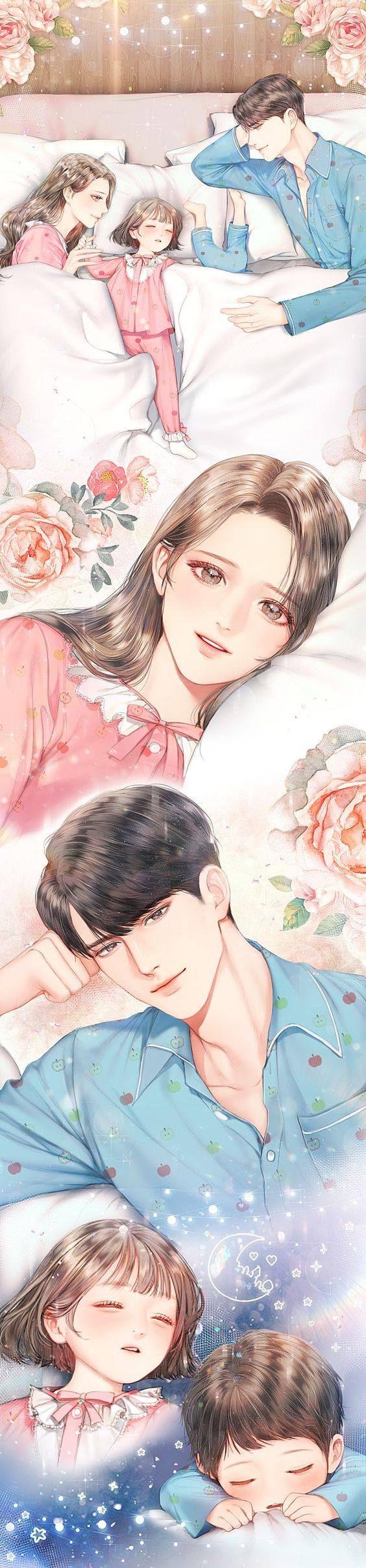 Pin oleh Tường vy di 그림들 Gambar pasangan anime, Manga