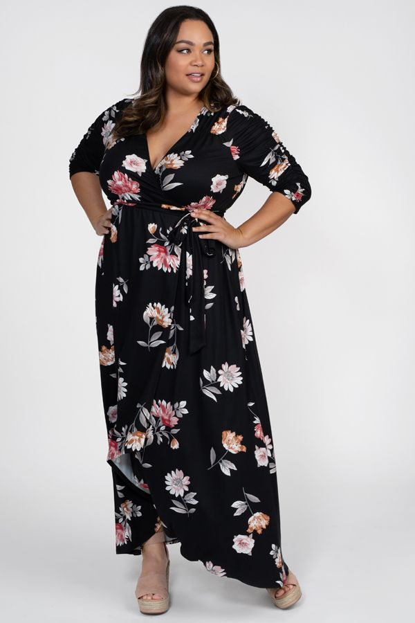 Our Plus Size Meadow Dream Maxi Dress Makes A Great Wedding Guest Dress A Beautiful Floral Print Ruc Maxi Dress Plus Size Maxi Dresses Plus Size Long Dresses