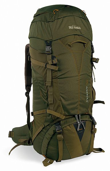 Large trekking and travel backpack with 70 liter capacity and 3D front opening for trekking, backpacking and traveling.