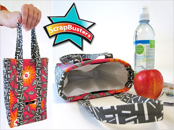 ScrapBusters: Insulated Lunch Tote with PUL Lining