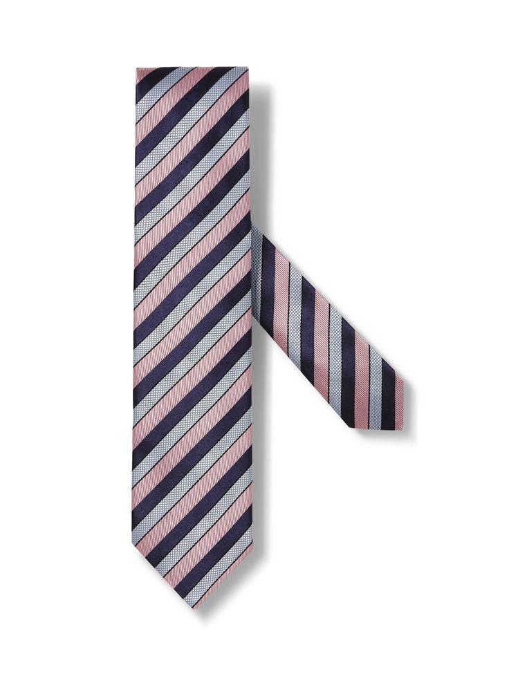 Pink Regimental Striped Tie FW16 9905441 | Zegna