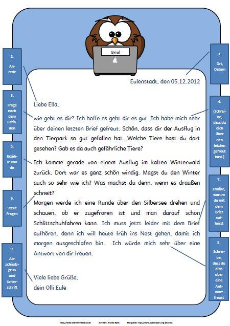 Briefe An Lehrerin Schreiben : Best ideas about brief deutsch on pinterest vorlage