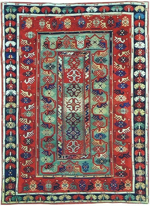 Antique Turkish Milas Rug.