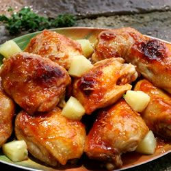 Baked Apricot Chicken   This simple and delicious chicken is very quick for a busy weeknight. Serve with rice or salad.