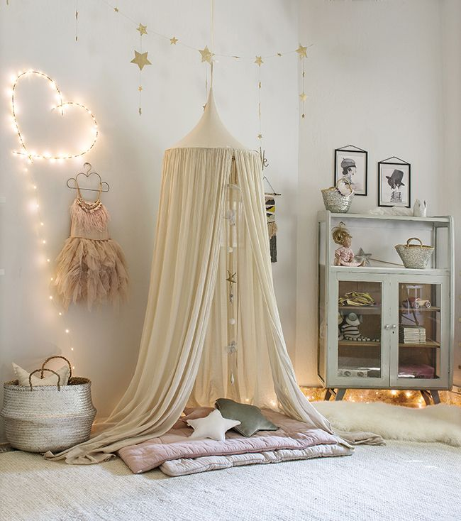 Girls bedroom inspiration on the Lottie is Loving blog with Numero 74 canopy