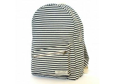 Wide Stripe Lucas Backpack. Every purchase made through stone+cloth helps put students through school in tanzania Africa.