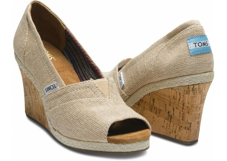 TOMS, Love these and bought these!: Woman Wedges, Shoes, Toms Wedges, Ameri Wedges, Burlap Women'S, Burlap Wedges, Women'S Wedges, Ameri Burlap, Burlap Woman