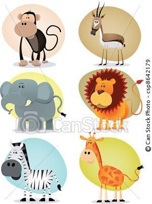 Vettore - africano, giungla, Animali, collezione - archivi di illustrazioni, illustrazioni royalty free, icona stock clipart, icone stock clipart, line art, immagine EPS, immagini EPS, grafica, immagini grafiche, disegno, disegni, immagine vettoriali, artwork, arte vettoriale EPS