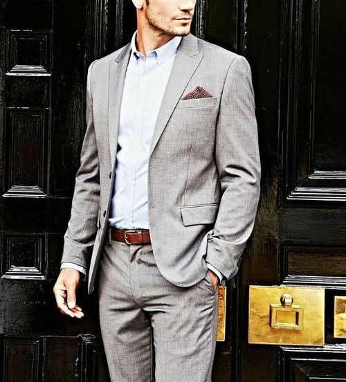 clean simple pair your pebble grey suit w lavender j