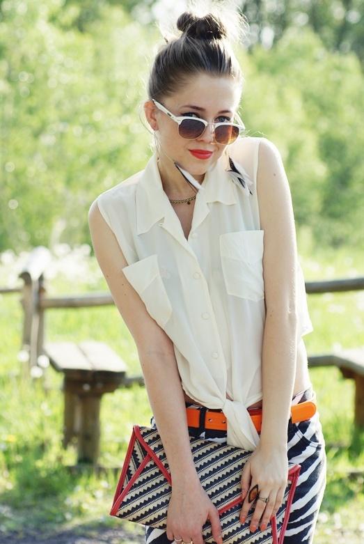 Kasia Gorol wearing tie-ups Orangesky  #TieUpsStyle
