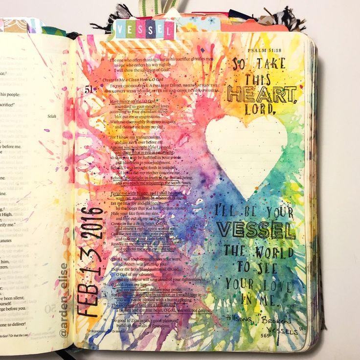 Bible journaling, Psalm 51 — Arden Ratcliff-Mann