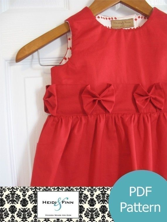 Love the belt/sash! the Perfect Holiday Dress pattern and tutorial by heidiandfinn, $6.95