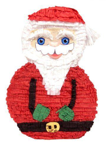 Santa claus christmas pinata party game and decoration