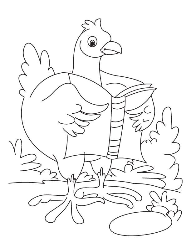Dancing Hen Coloring Pages