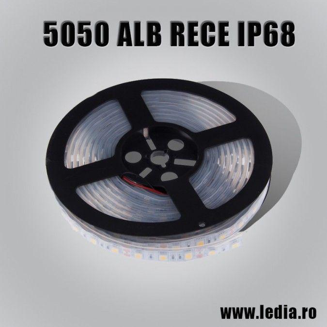 BANDA LED  5050 ALB RECE IP68