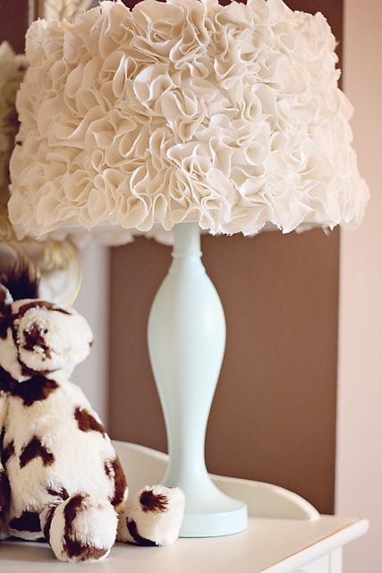 Revise your old lamp with this chic white flower shade!