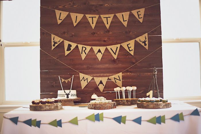 Little Brave Man themed 1st Birthday Party with Such Cute Ideas via Kara's Party Ideas Kara's Party Ideas   Cake, decor, cupcakes, games and...