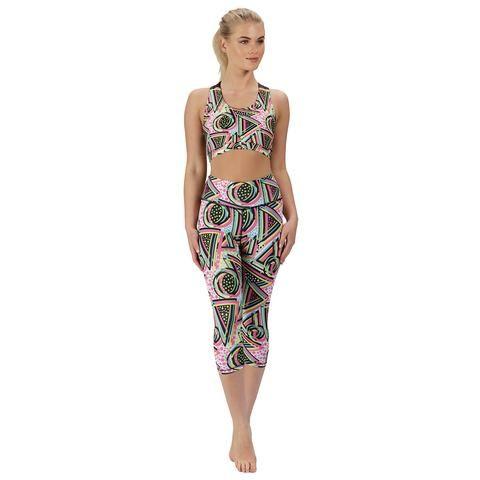 Tikiboo Bel Air Babe Capri #Activewear #Gymwear #FitnessLeggings #Leggings #Tikiboo #Running #Yoga