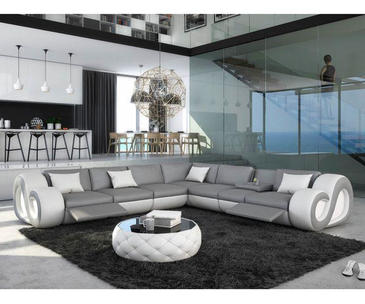 Die besten 25+ grau Ledersofa Ideen auf Pinterest Skandinavische - wohnideen wohnzimmer braun weis
