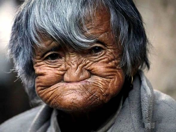 Can funny old women ugly face you