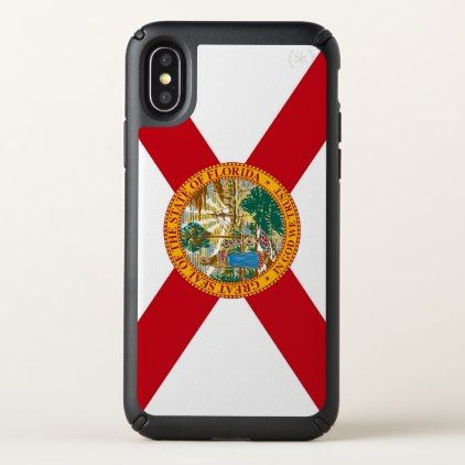 Speck Presidio iPhone X Case with Florida flag - stylish gifts unique cool diy customize