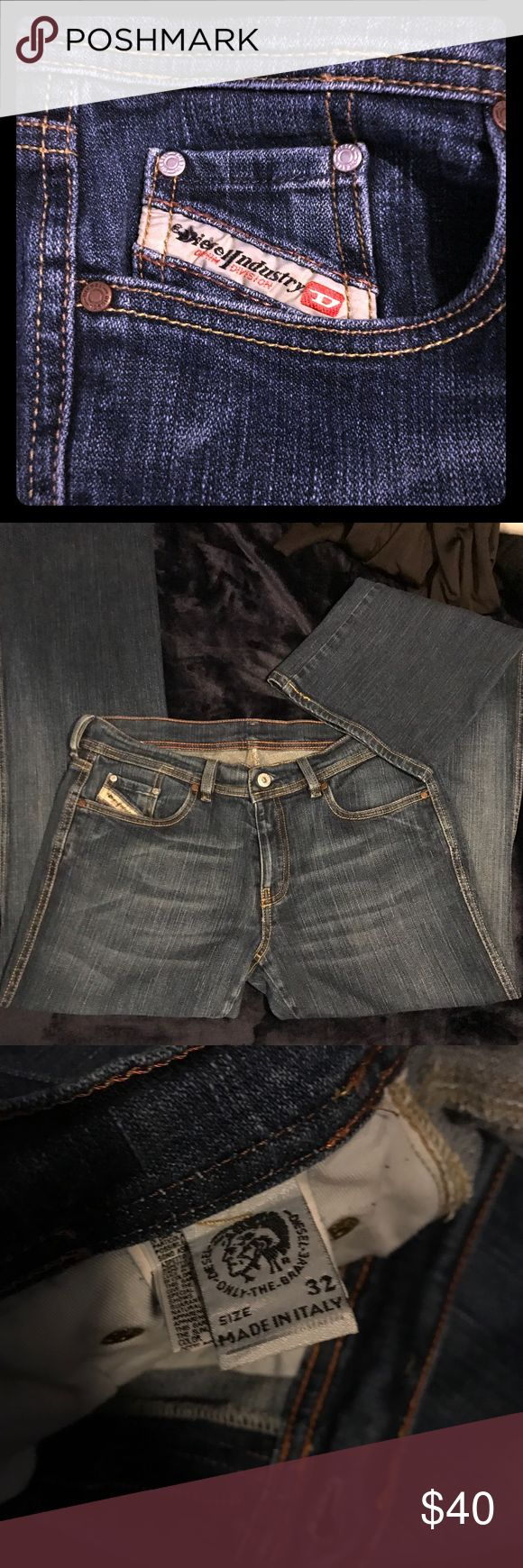 Ladies Diesel Jeans EUR Sz 32 Bought in Rome.  Made in Italy.  Slight bootcut.  98% cotton and 2% elastane give an ever-so-slight stretch without losing shape.  Sit at navel/waist level.  Worn once. Diesel Jeans Boot Cut