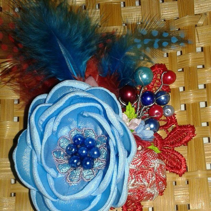 Bros hijab blue rose