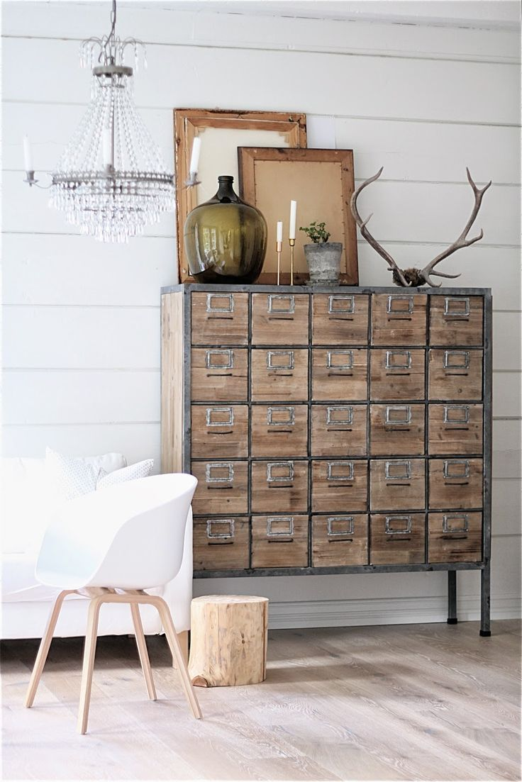 Industrial Farmhouse Storage Drawers....stylish organizing | Friday Favorites at www.andersonandgrant.com