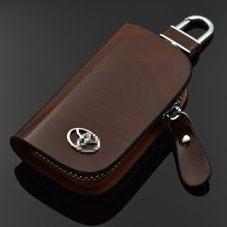 Black Brown Leather Wallets For Toyota Highlander Crown Reiz Camry Corolla RAV4 Previa Estima Bag car key case sets For Toyota