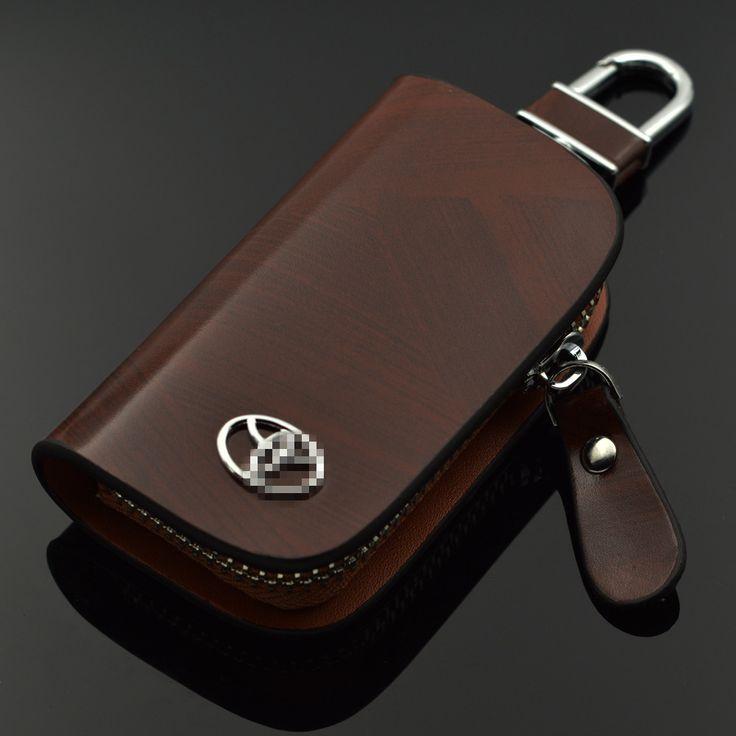 Black Brown Leather Wallets For Toyota Highlander Crown Reiz Camry Corolla RAV4 Previa Estima Bag car key case sets For Toyota