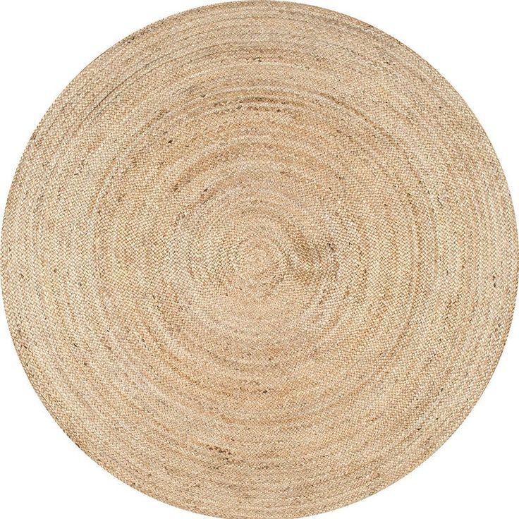 tappeto di pezza rotonda coperta juta tappeti bella iuta