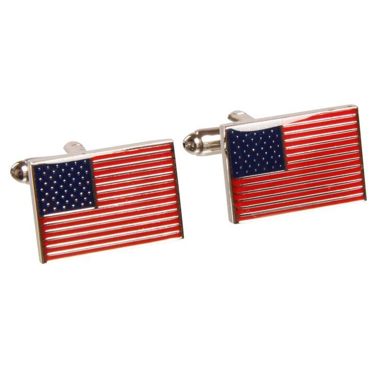 Flotte manchetknapper med det Amerikanske flag