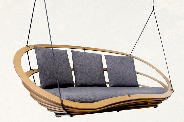 Circa Double -hanging bench made from one piece of plywood